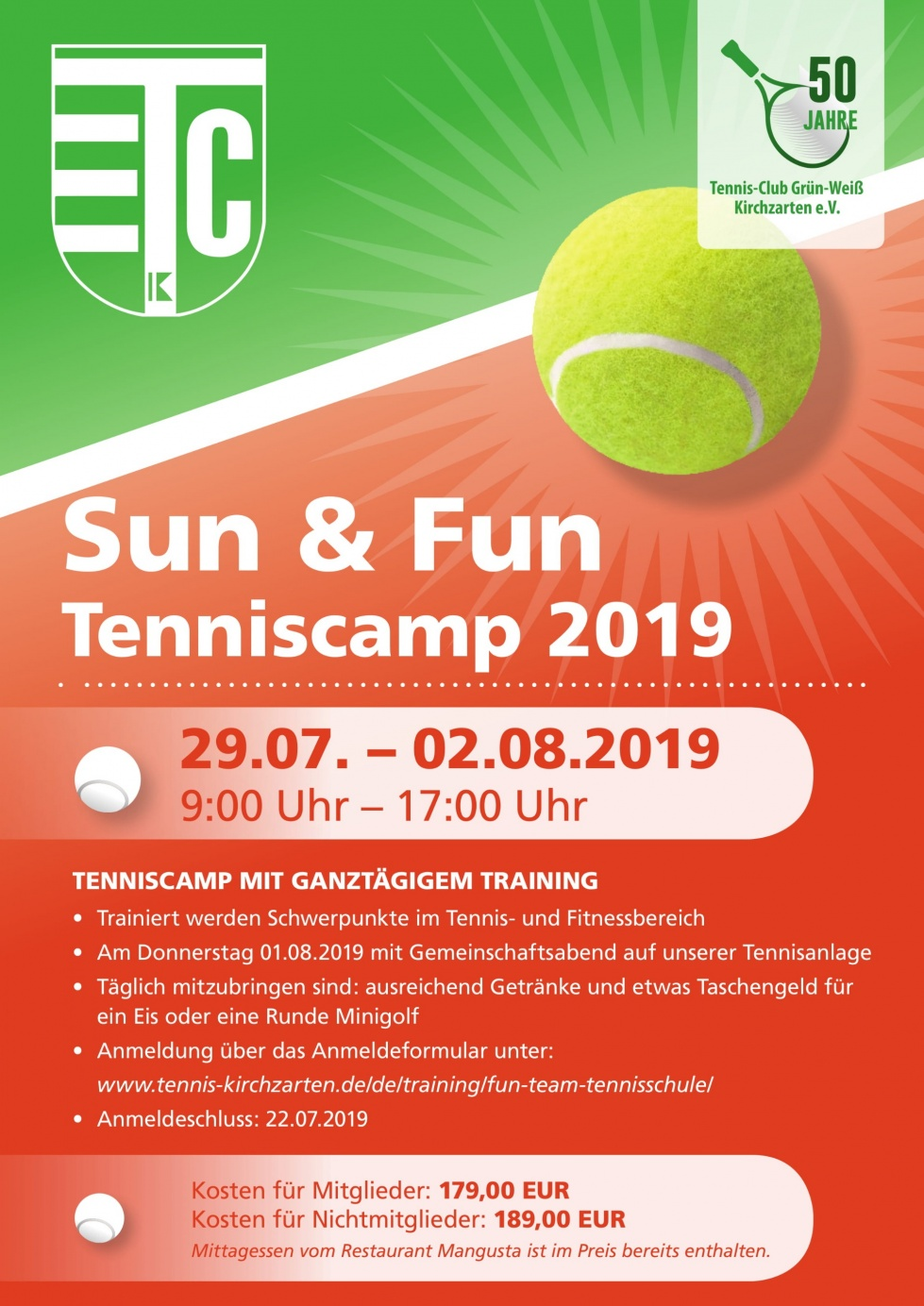 Sun & Fun Tenniscamp 2019
